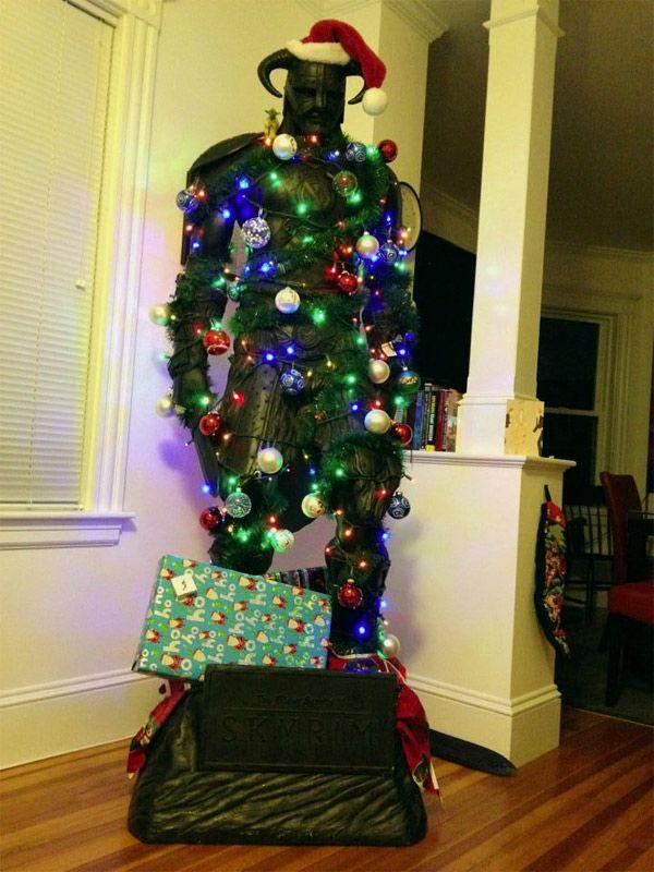 Kitschige Weihnachtsdeko size skyrim dragonborn nord statue tree skyrim