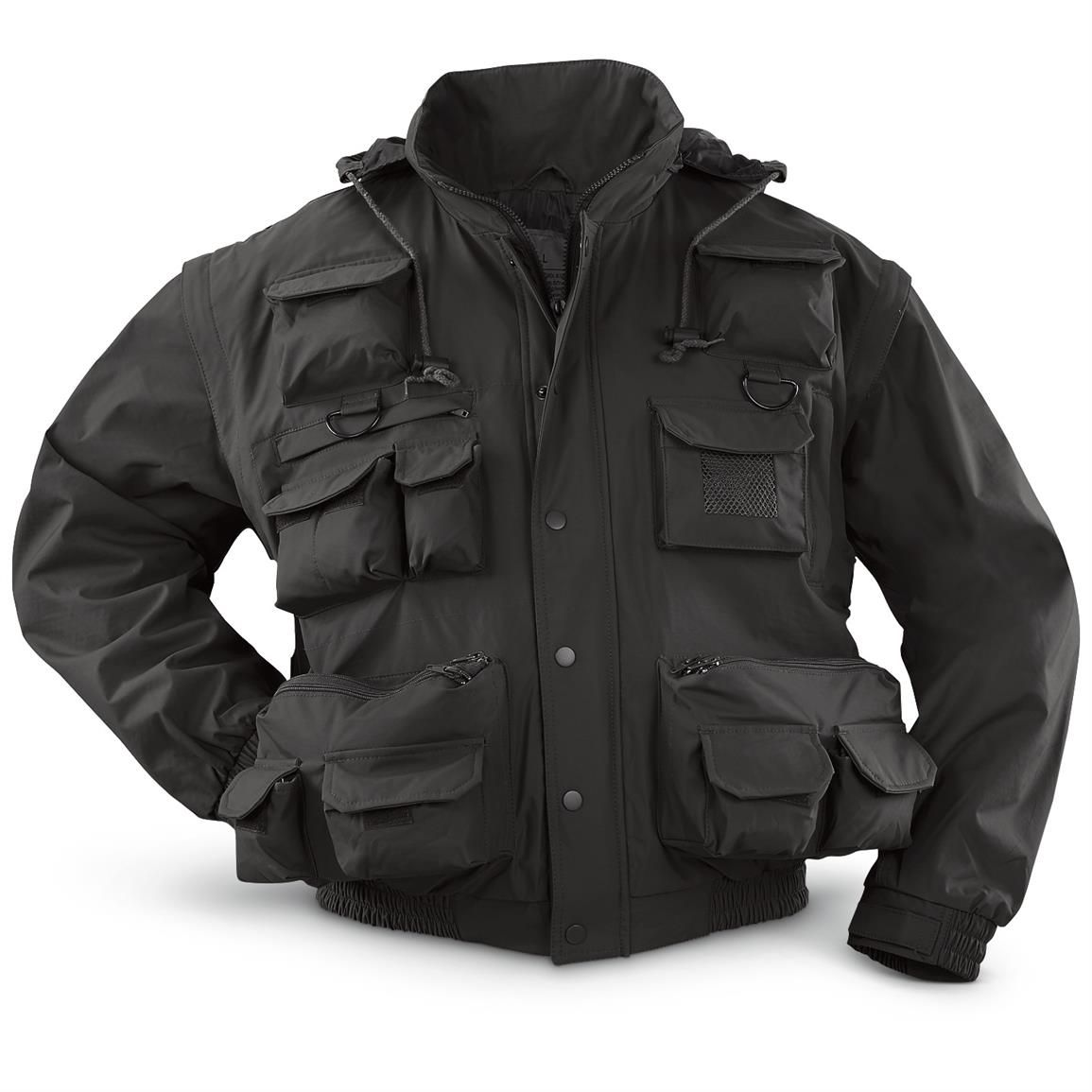 Tactical Duty Waterproof Windproof Jacket With Zip Off Sleeves Black 656124 Insulated Jackets Coats At Sportsma Windproof Jacket Tactical Jacket Jackets [ 1155 x 1155 Pixel ]