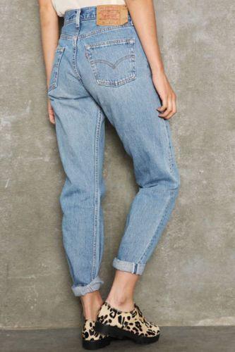 levi 39 s jeans women 39 s pre owned 501 straight leg high waist stonewash vintage denim levis jean. Black Bedroom Furniture Sets. Home Design Ideas