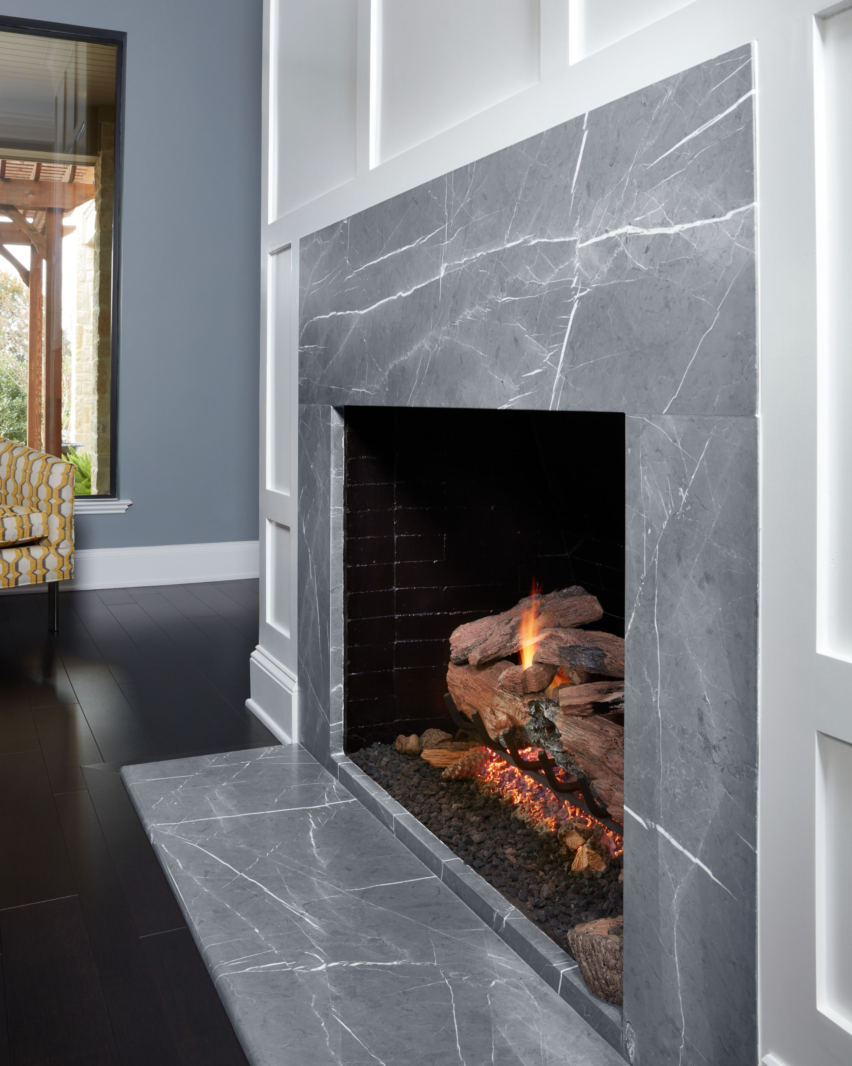 Churchill Soapstone Slabs Enhance The Aesthetic Of Any Room With A Durable And Unique Surface This Natural Stone Draws A In 2020 Stone Countertops Soapstone Fireplace