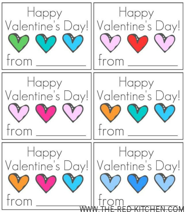 "Free Printable ""Happy Valentine's Day!"" Cards"