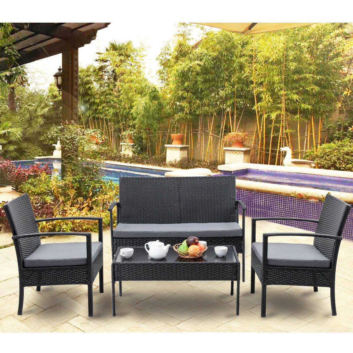 Arredo Giardino In Rattan.Il Set Da Giardino Dal Design Ergonomico Offre Una Posizione Di
