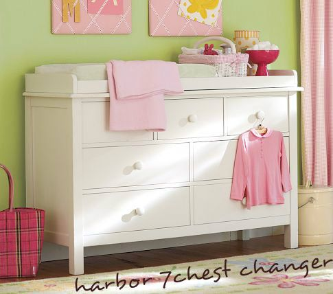 New YoungOZ Harbor 7 Chest of Drawers + Change table station w/ pad