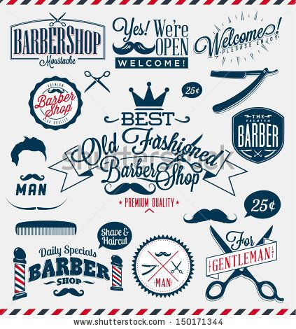 Barber Vector : barber shop logo graphics and icons - stock vector barbershop ...