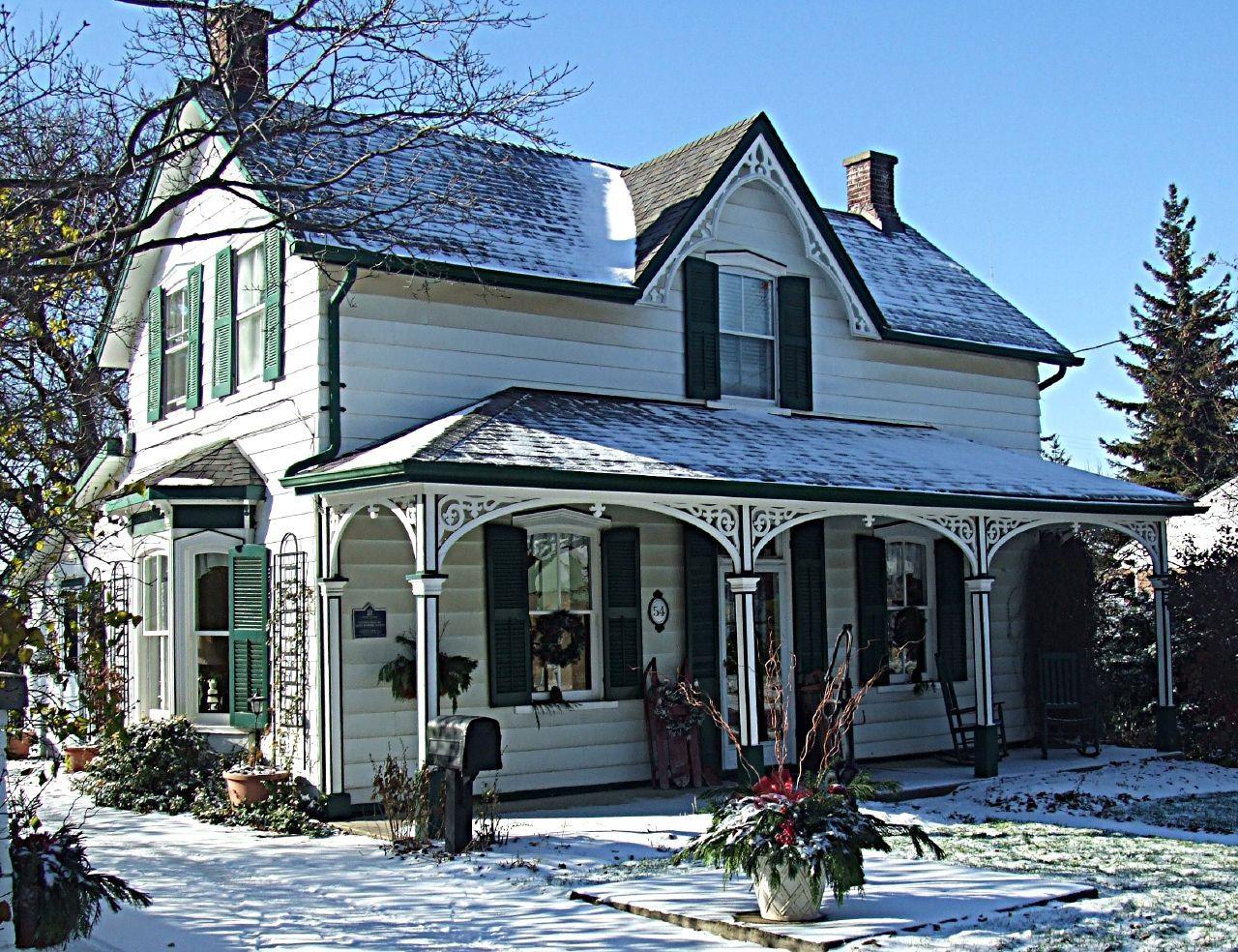 Foto de casa de campo blanca con estilo 1280 - Casas de campo bonitas ...