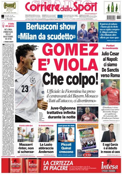 calciomercato Gomez è viola. Julio Cesar al Napoli ci