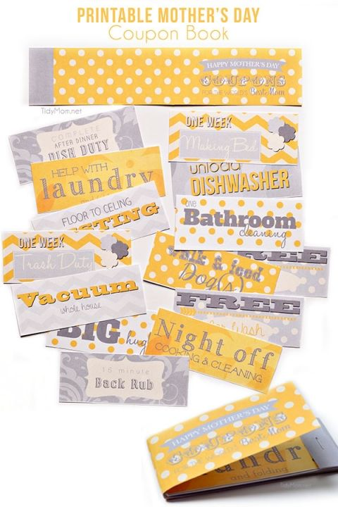 mothers day coupon book pinterest