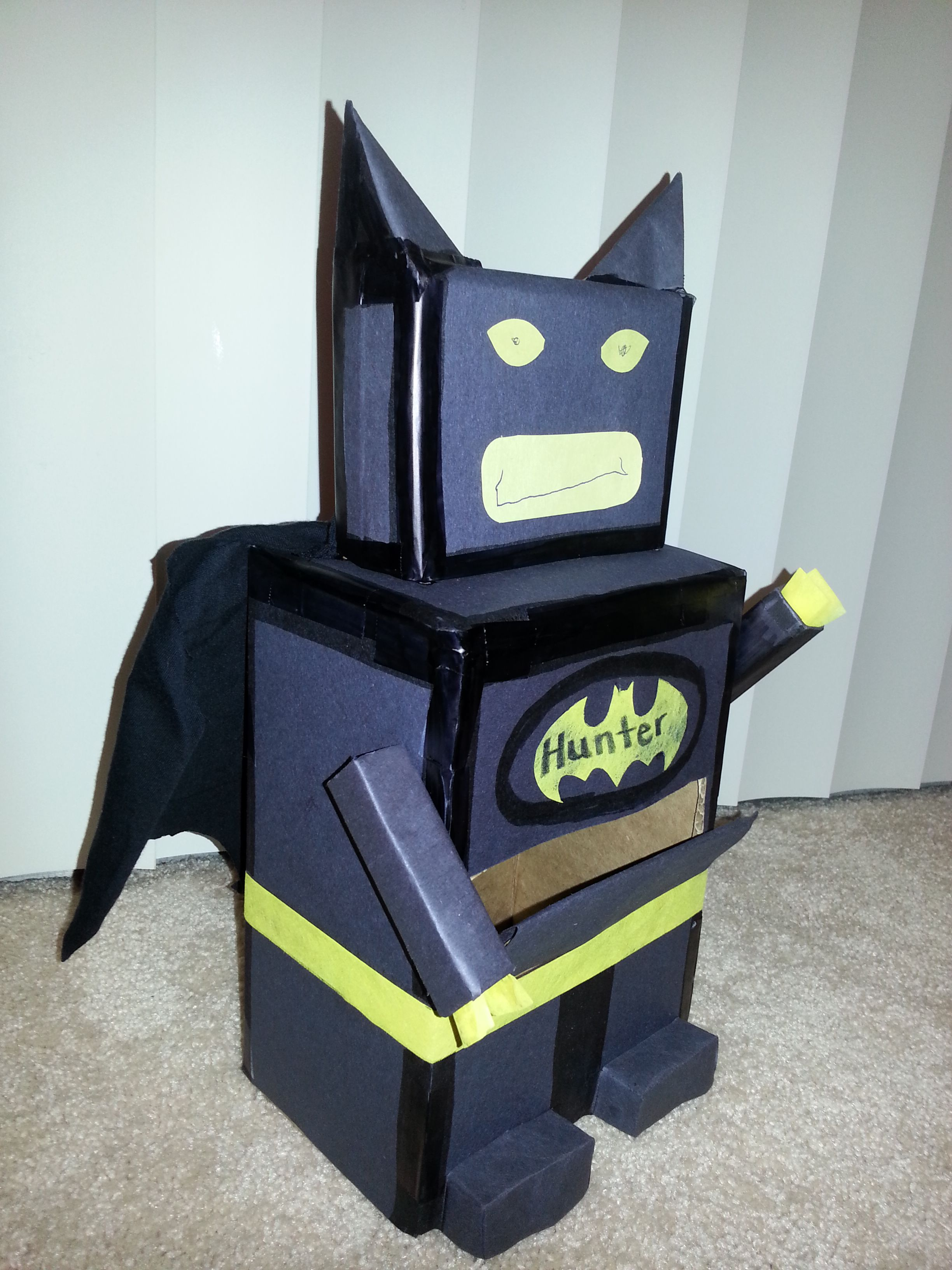 lego batman mailbox for valentines  made from box construction