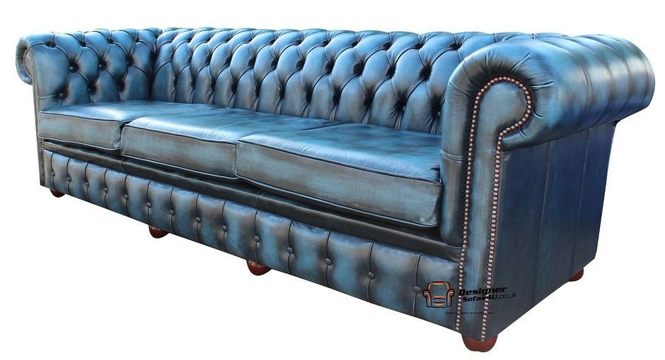 Buy Blue Leather Chesterfield Sofa Uk At Designersofas4u Blue Leather Sofa Chesterfield Sofa Uk Leather Chesterfield Sofa