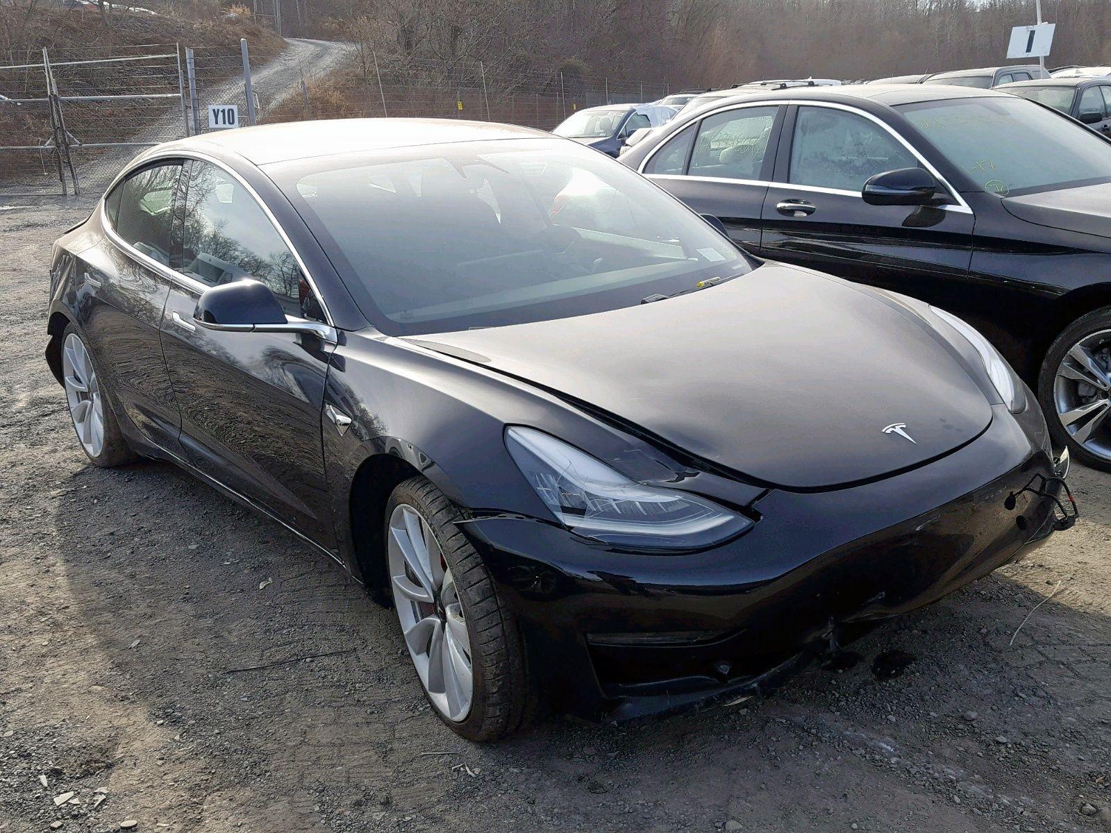 Salvage 2018 Tesla Model 3 Honda civic ex, Toyota