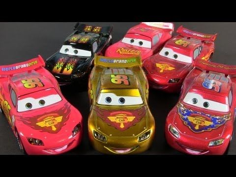 Gold Lightning Mcqueen Chase 2013 Cars 2 Disney Store Pixar Die Cast Lightning Mcqueen Disney Cars Disney Store