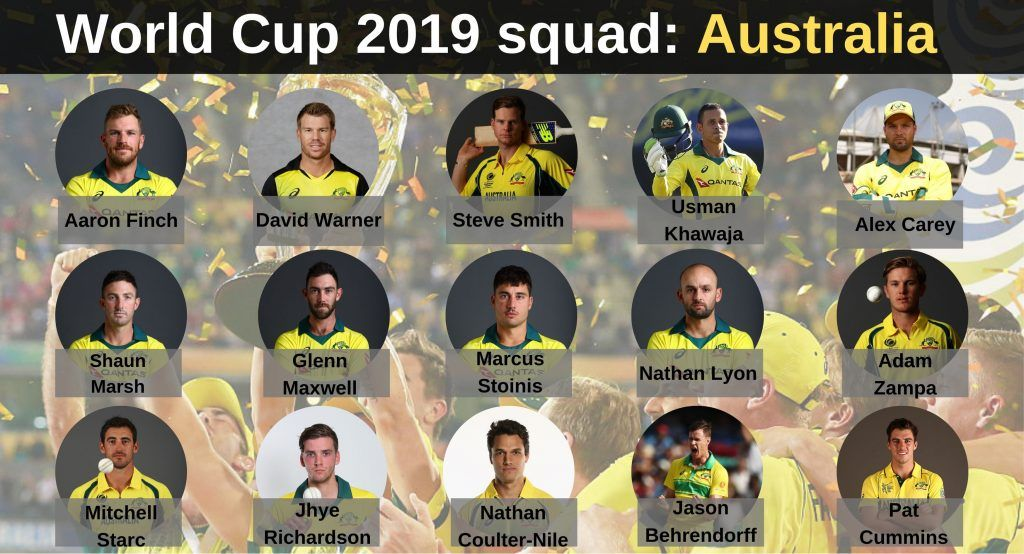 Look At The Recent Form Of Australian Players In The World Cup Squad World Cup Australia Cricket Team Cricket World Cup