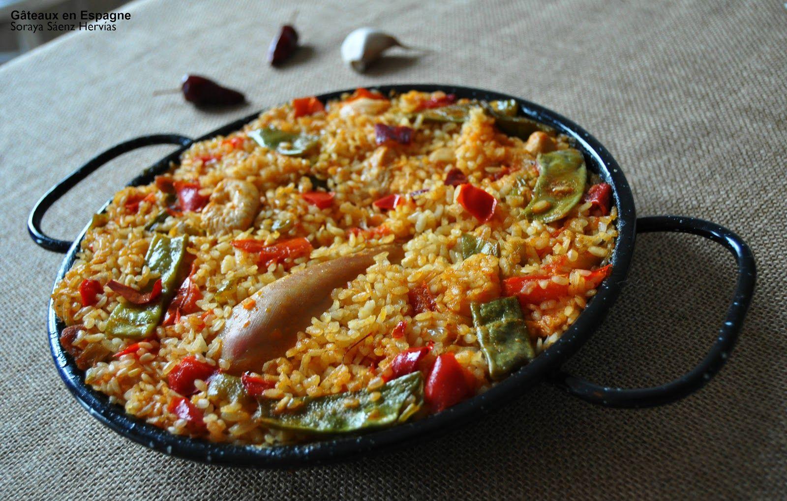 recette de pa lla au poulet traditionnelle tapas espagnoles g teaux en espagne paella. Black Bedroom Furniture Sets. Home Design Ideas