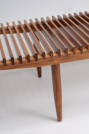 Paddle8: Slat Top coffee table - Sam Maloof Studio