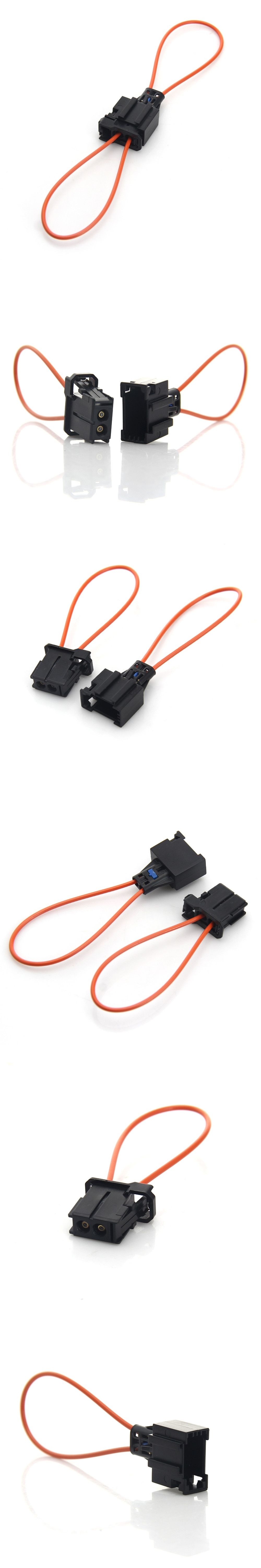 Pair Most Fiber Optic Loop Bypass Male To Female Connector Car Porsche Wiring Connectors Diagnostic Cable For Audi Bmw