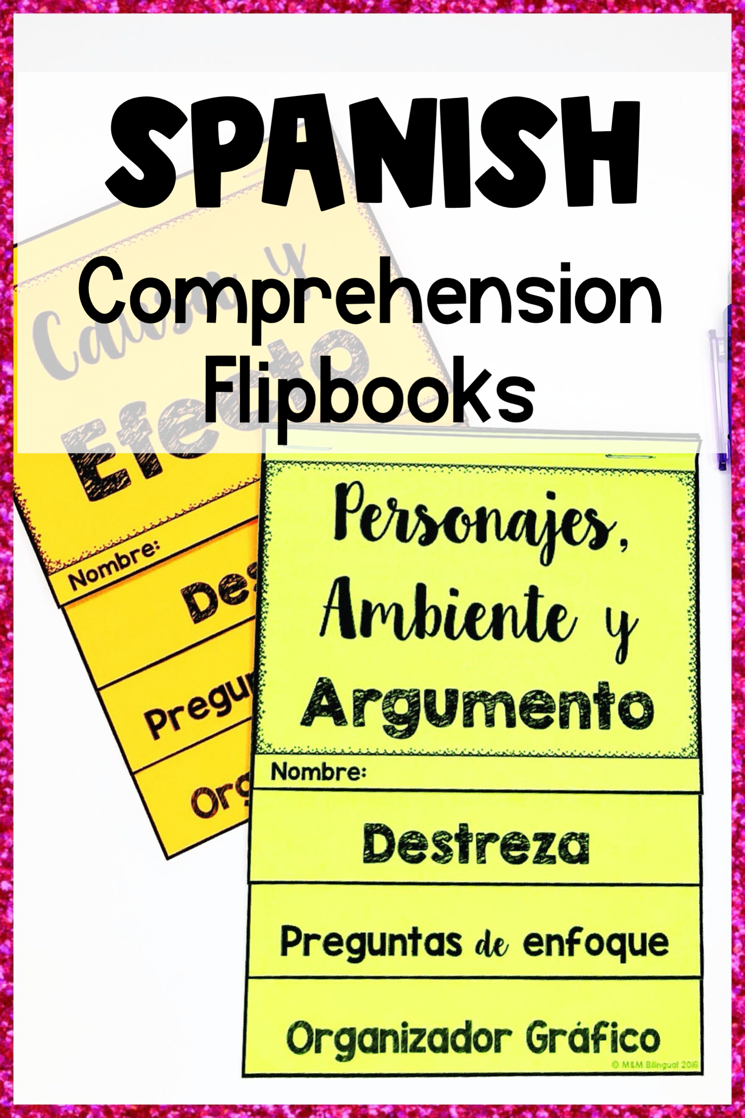 Comprehension Flipbooks Spanish Comprehension Skill Comprehension Flip Book