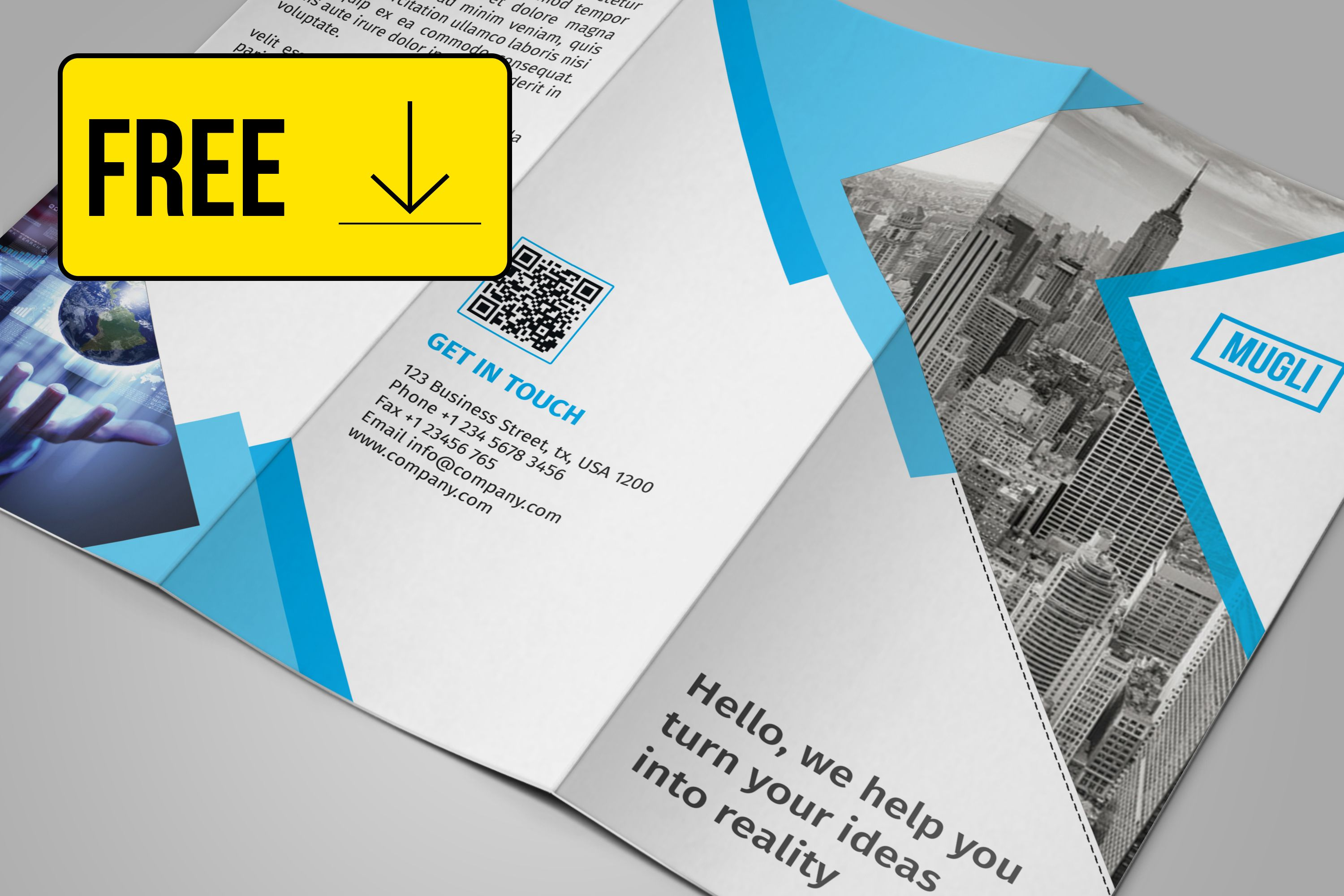 check out this behance project free tri fold brochure template
