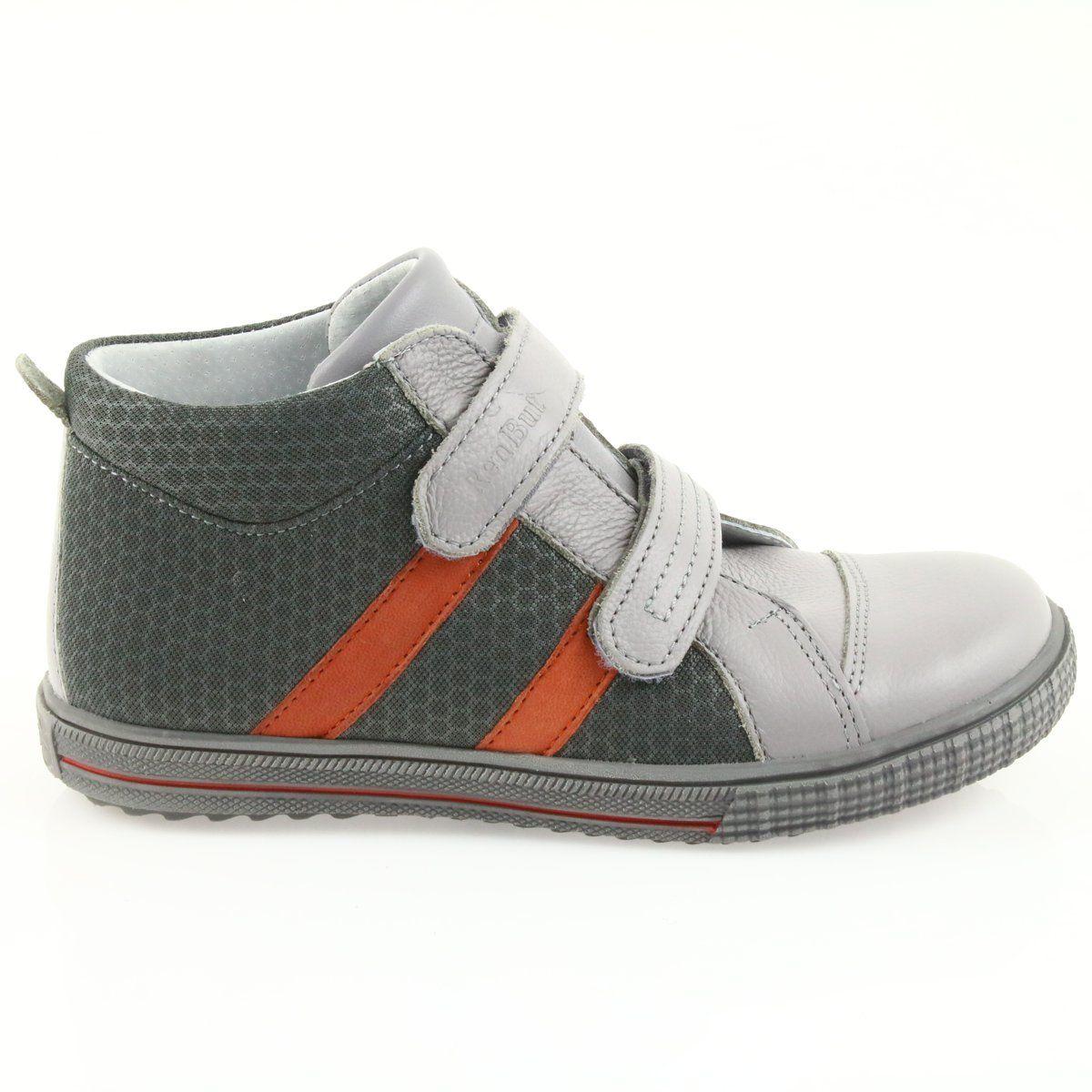 Trzewiki Buty Dzieciece Na Rzepy Ren But 4275 Popiel Pomarancz Pomaranczowe Szare Childrens Boots Childrens Shoes Childrens Shoes Boys