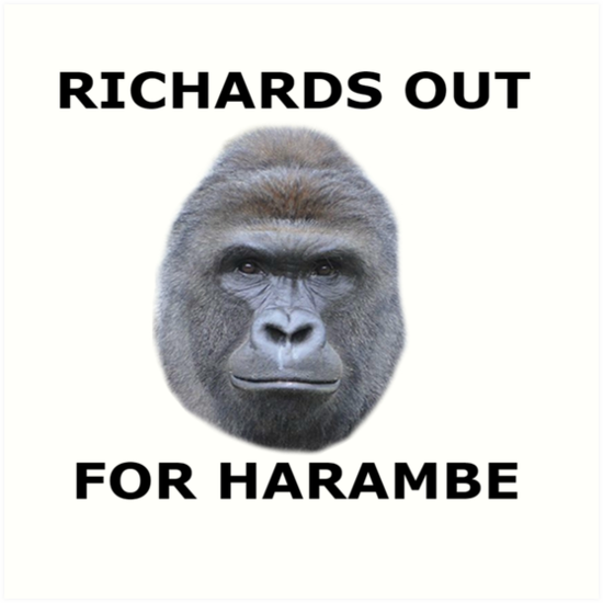Richards Out For Harambe