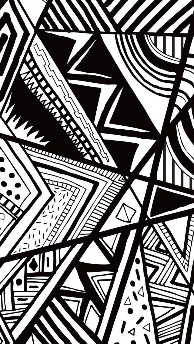 Robot Check Black And White Wallpaper Iphone Black And White Doodle Iphone 5s Wallpaper