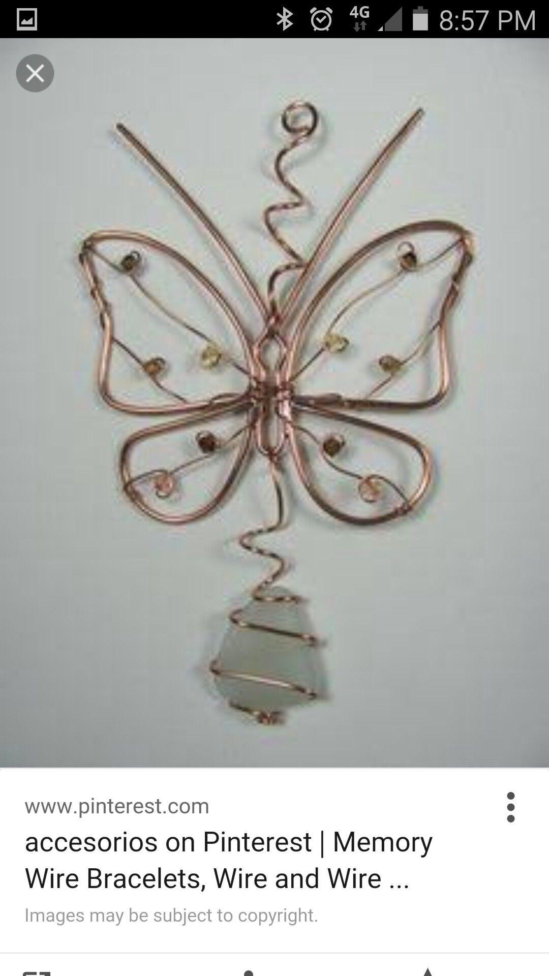 Butterfly | wire | Pinterest | Draht, Kupfer und Rund ums haus