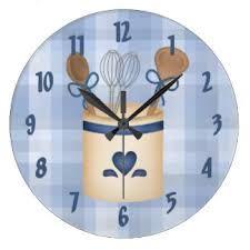 kitchen utensils clock x