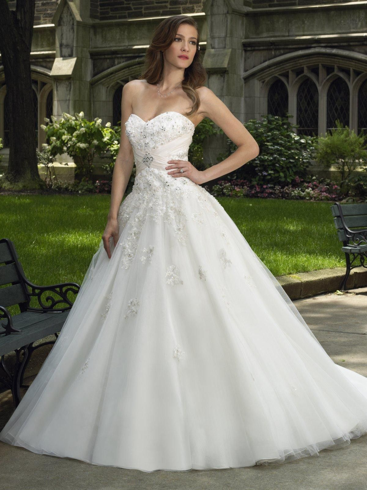 tulletaffeta-sweetheart-ball-gown-wedding-dress - Wedding Ref ...