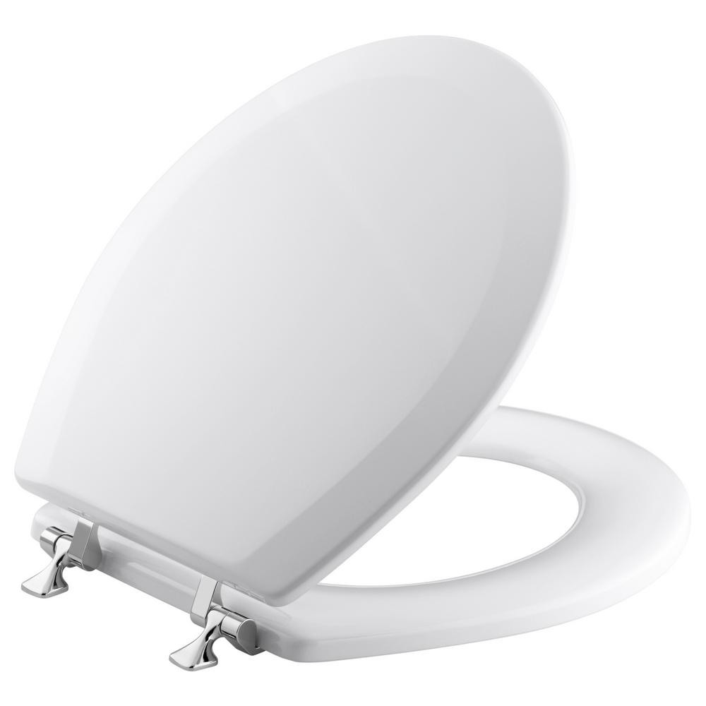 Kohler Triko Molded Round Closed Front Toilet Seat With Cover And