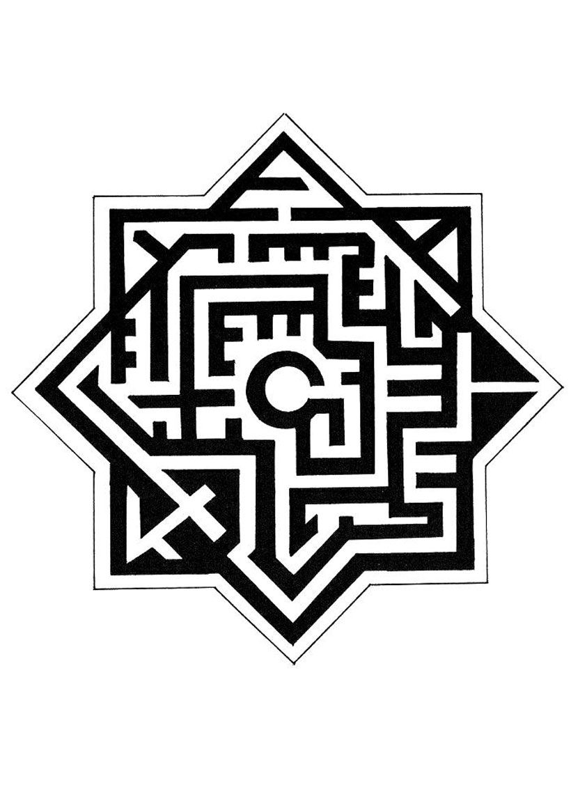 Labyrinthe tatouage tatouage labyrinthe coloriage mandala et labyrinthe - Coloriage de tatouage ...