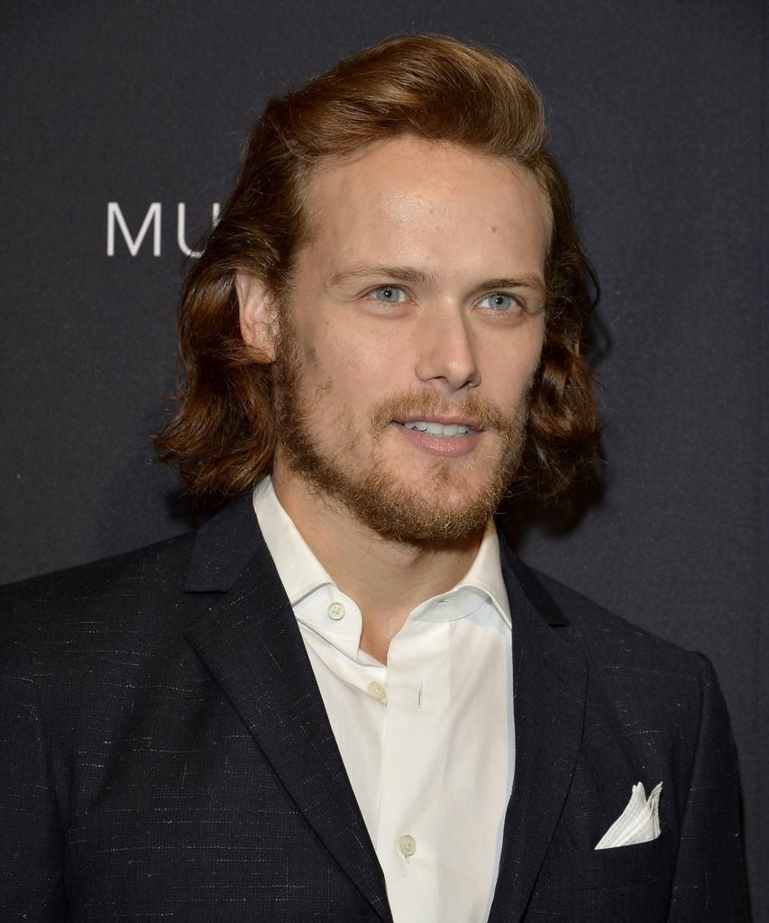 I think this is one of my fav pics of @SamHeughan.  So handsome!