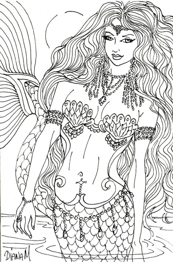Coloring Pages For Adults Mermaid