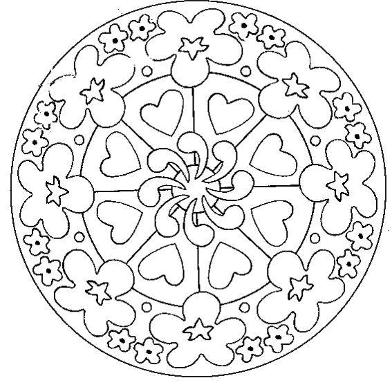 Page De Mandalas Gratuits Mandala A Colorier Facile Enfant