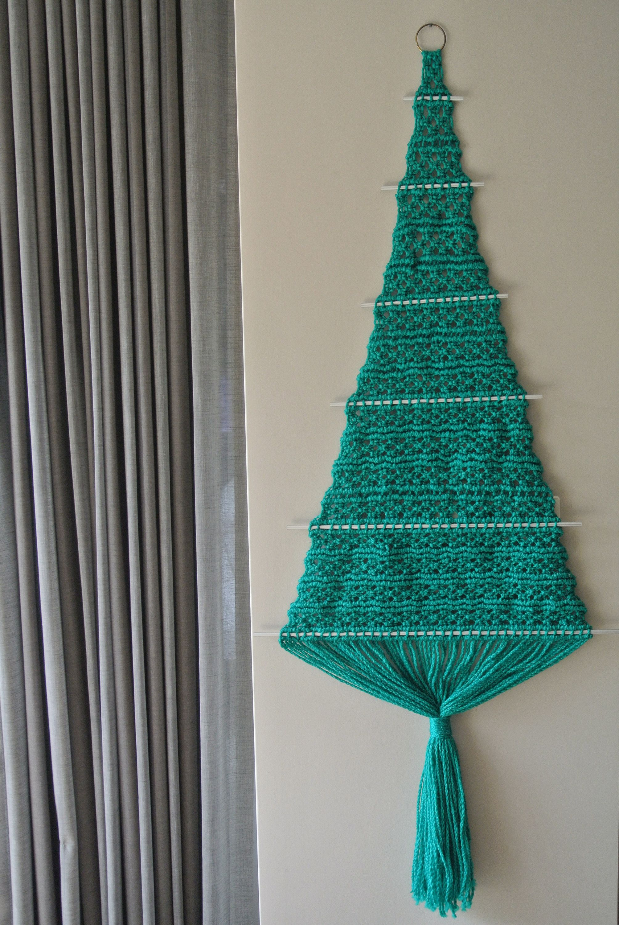Macrame Christmas Tree Large Wall Hanging Macrame Wall Hanging Christmas Tree