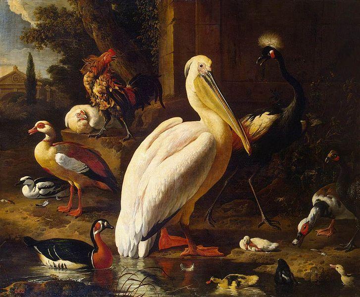File:Melchior d'Hondecoeter - Birds in a Park - WGA11639.jpg