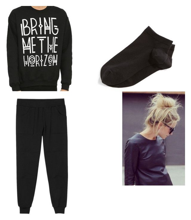 """""""lazy bums"""" by sportsgirl-i on Polyvore featuring RVCA, Wolford, women's clothing, women, female, woman, misses and juniors"""