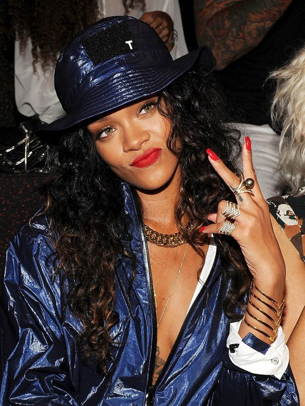 "70c433d018db6 Forget Resting Bitch Face, RiRi s perfected ""Active Bitch Face."" Rihanna  Nails,"