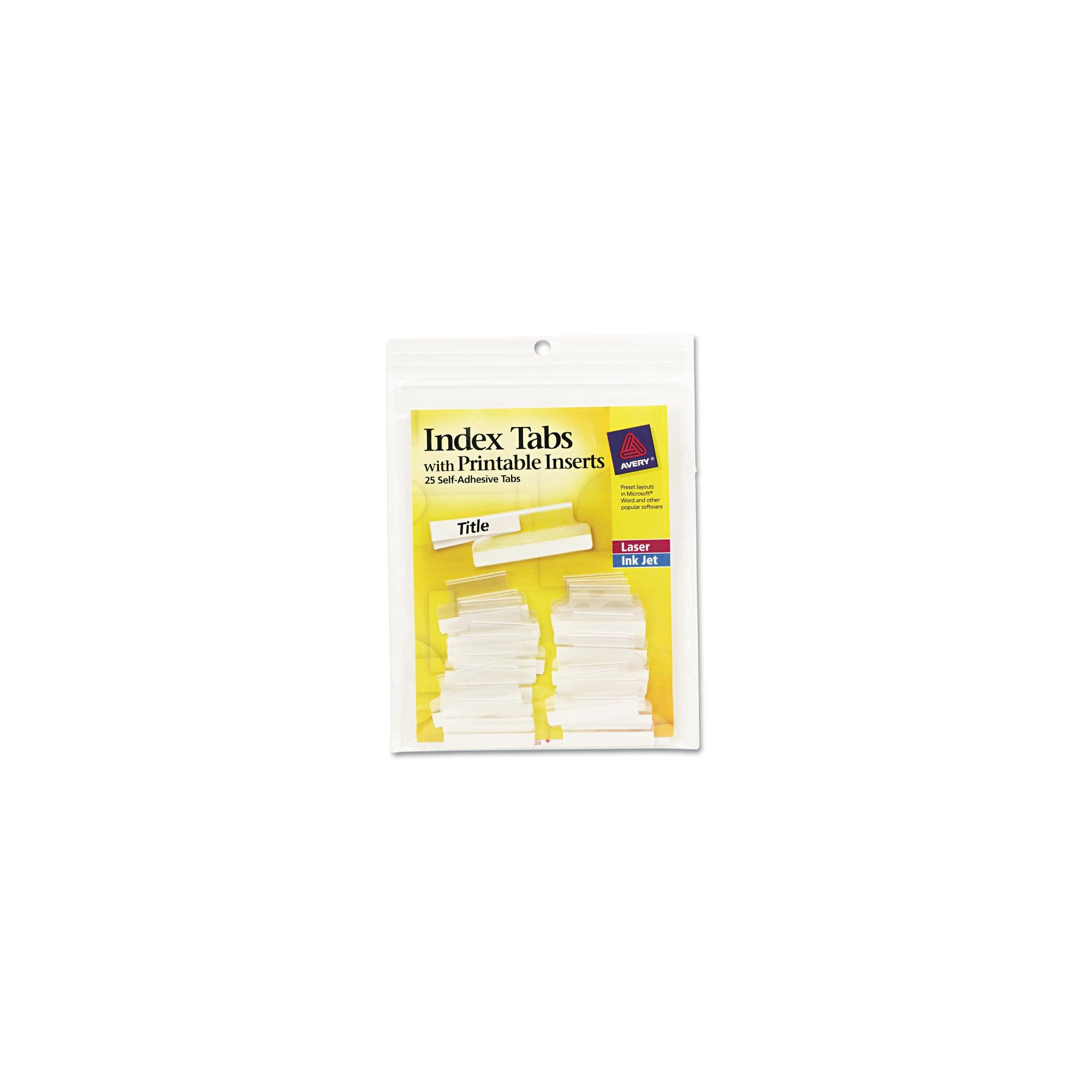 graphic relating to Printable Self Adhesive Tabs named Avery Self-Adhesive Tabs with White Printable Inserts, 1