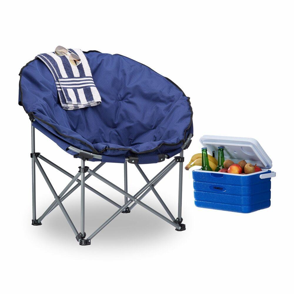 Relaxdays Campingstuhl Moonchair 120 Kg Belastbar Bequemer Xxl