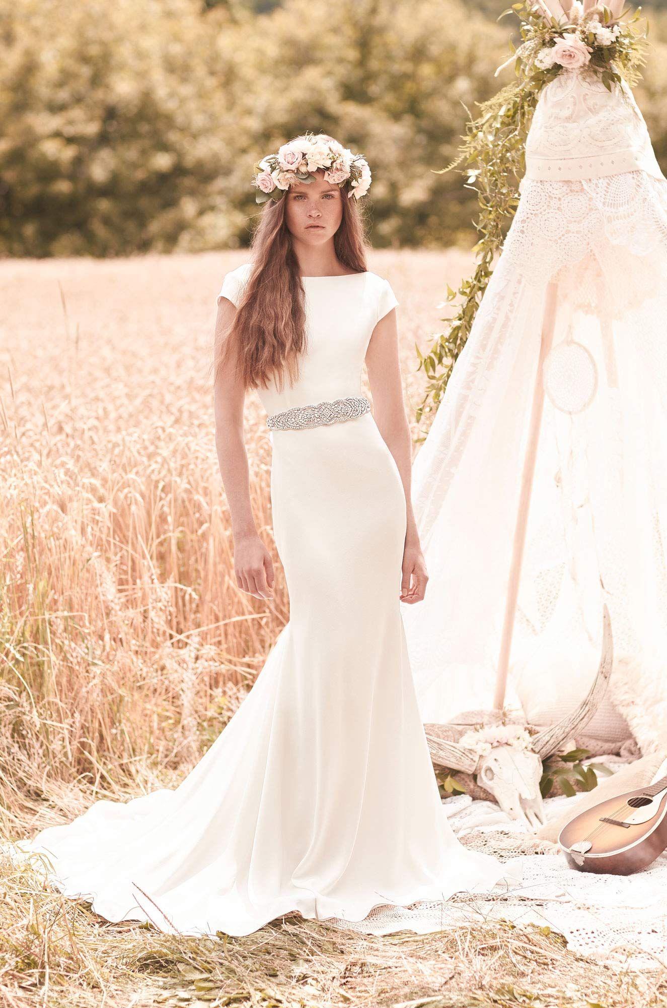 Cap Sleeve Wedding Dress Style 2061 In 2018 Mikaella Bridal