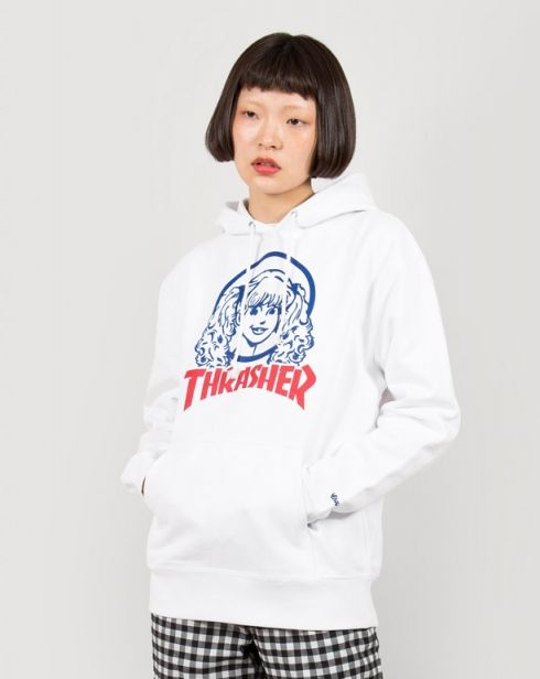 44a044129520 Aymmy in the Batty Girls Thrasher Aymmy Face Hoodie