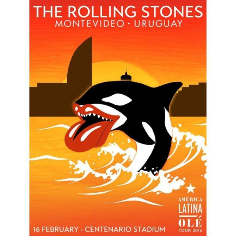 El afiche del show de los Rolling Stones en Montevideo | La banda habilitó además una votación para que el público elija uno de los temas del espectáculo de mañana