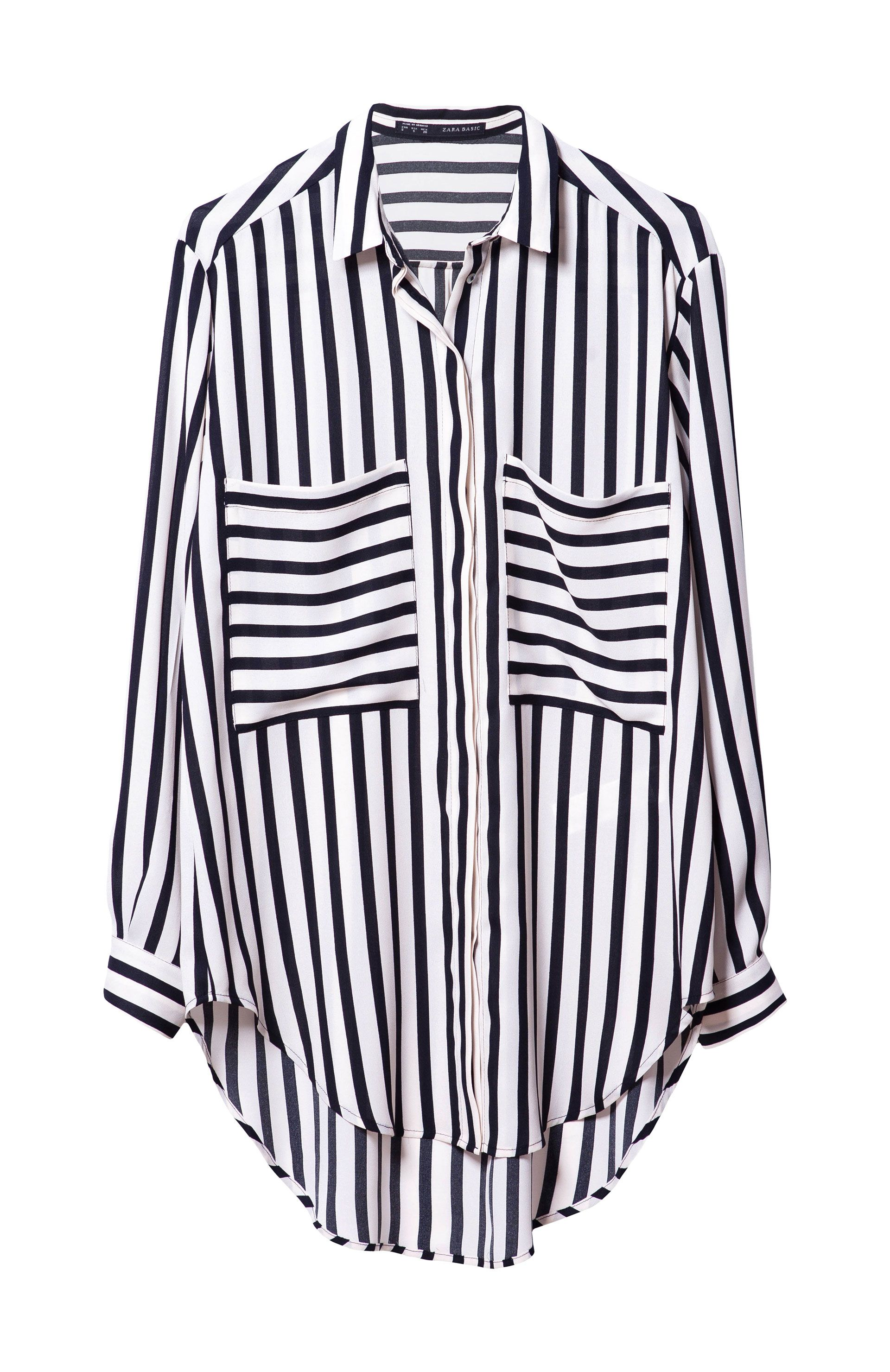 d46d23fe STRIPED SHIRT WITH POCKETS - Shirts - Woman - ZARA United States ...