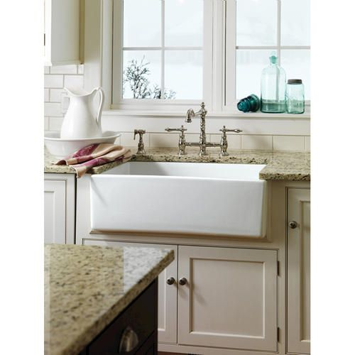 Barclay 30 Farmer Sink In Fireclay At Menards Cheap Kitchen
