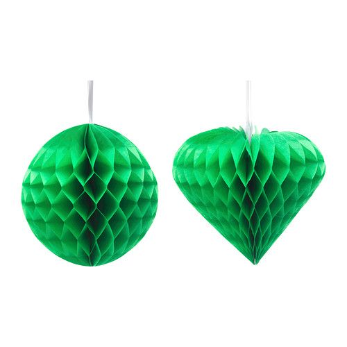 VISIONÄR Dekoration, versch. Formen grün