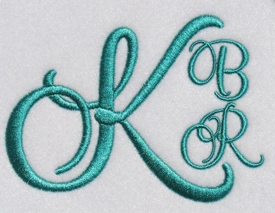 Miami Script Embroidery Font | Apex Embroidery Designs, Monogram