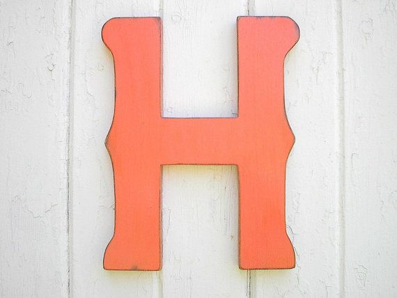 Decorative Wooden H letter Shabby chic Kids Wall by LettersofWood, $25.00