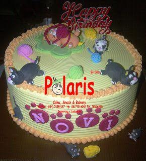 Polaris Cake Snack and Bakery Cat Birthday Cake Buttercream