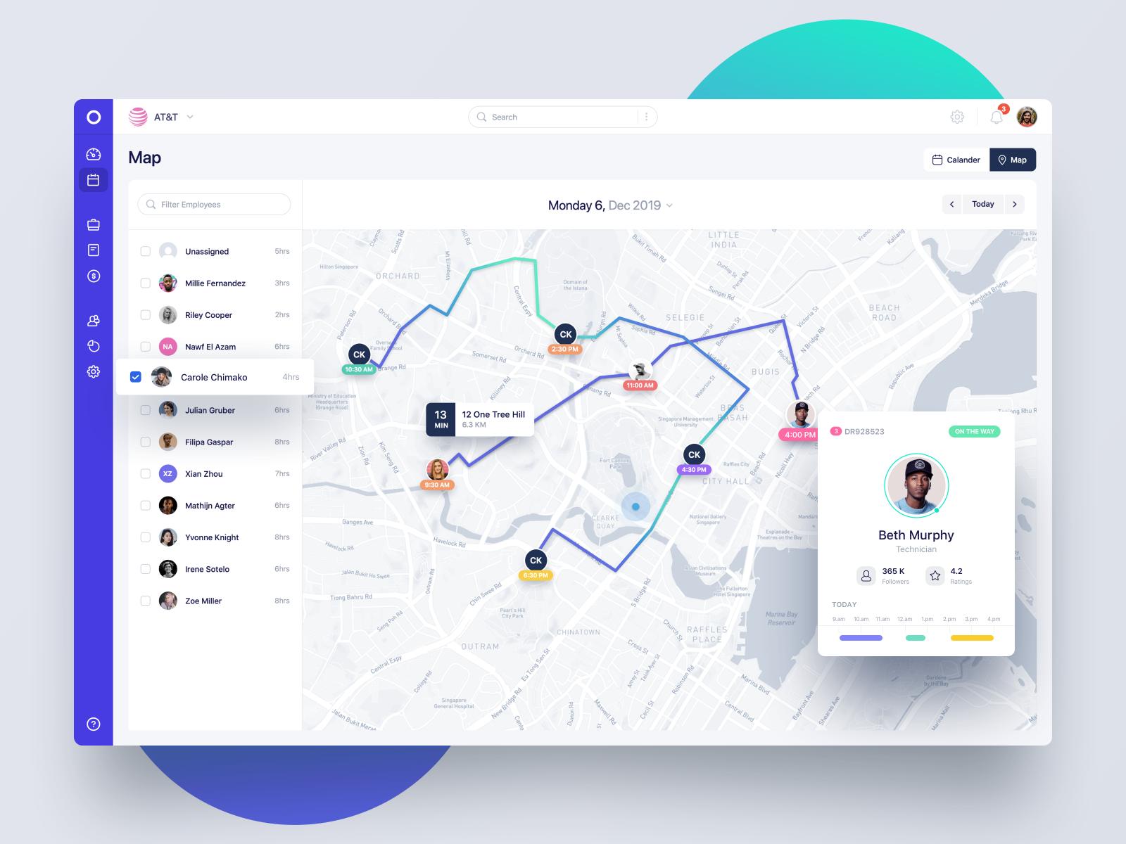 Map View Fleet Tracking App Web App Design Fleet Tracking Tracking App