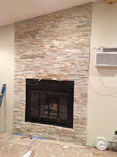 Stone For Fireplace Surround 6 99 Home Depot Stone Tile