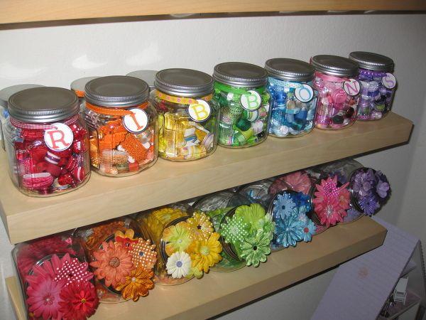 Paper Flower Storage